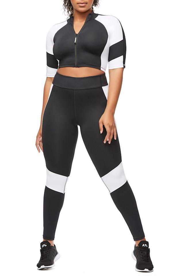 "<p>This classic black-and-white color-block two-piece is sporty and chic at the same time.<br /><a rel=""nofollow"" href=""https://fave.co/2AuIDR9""><strong>Shop it:</strong> </a>The Dual Life Crop Top, $89 (take 25% off with code EXTRA25), <a rel=""nofollow"" href=""https://fave.co/2AuIDR9"">goodamerican.com</a><br /><a rel=""nofollow"" href=""https://fave.co/2AuIGfN""><strong>Shop it:</strong> </a>The Dual Life Legging, $129 (take 25% off with code EXTRA25), <a rel=""nofollow"" href=""https://fave.co/2AuIGfN"">goodamerican.com</a> </p>"
