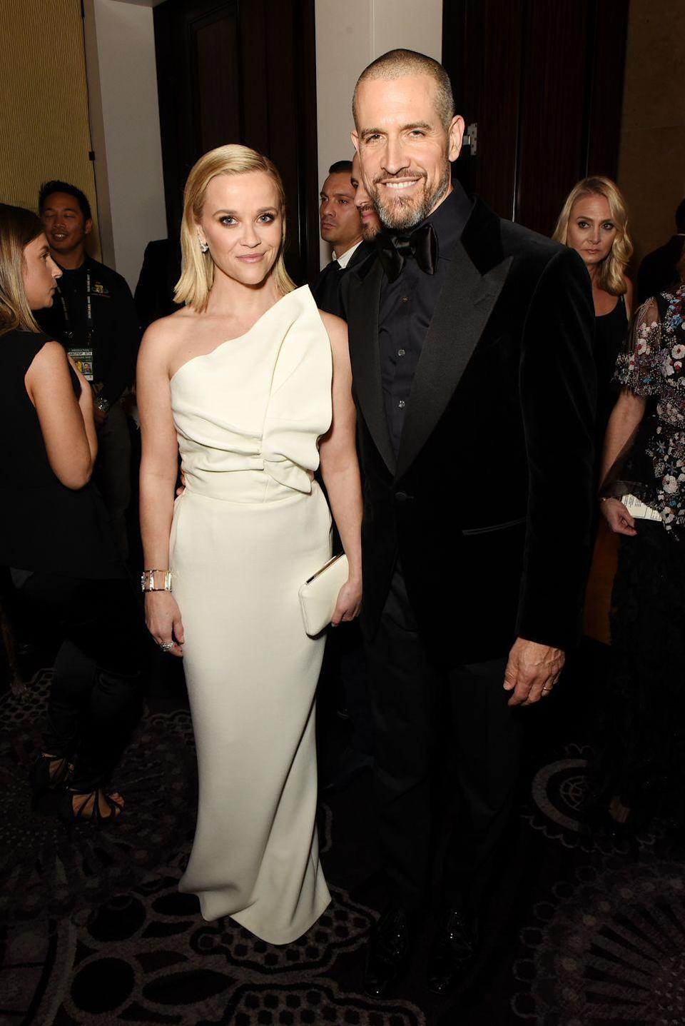 <p>Reese Witherspoon and talent agent Jim Toth tied the knot in 2011. The following year, the couple had son Tennessee James.</p>