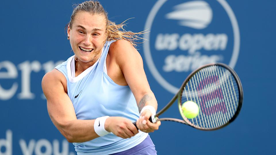 Aryna Sabalenka, pictured here in action at the Western & Southern Open.