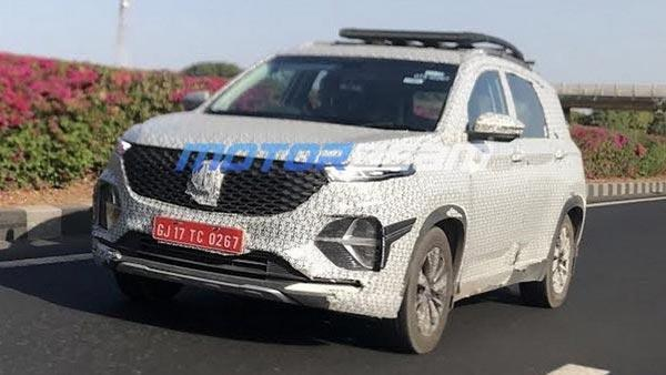 Mg Hector Plus Seven Seater Suv Spied Testing Ahead Of Launch Pics Details