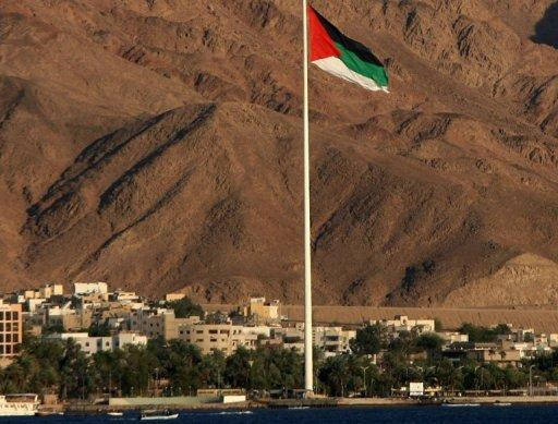 A view of the southern Jordanian Red Sea resort town of Aqaba on August 6, 2008. A flash flood in southern Jordan killed an elderly man on Saturday as torrential rains and heavy snowfall swept the desert country, trapping 300 people who had to be rescued, officials said