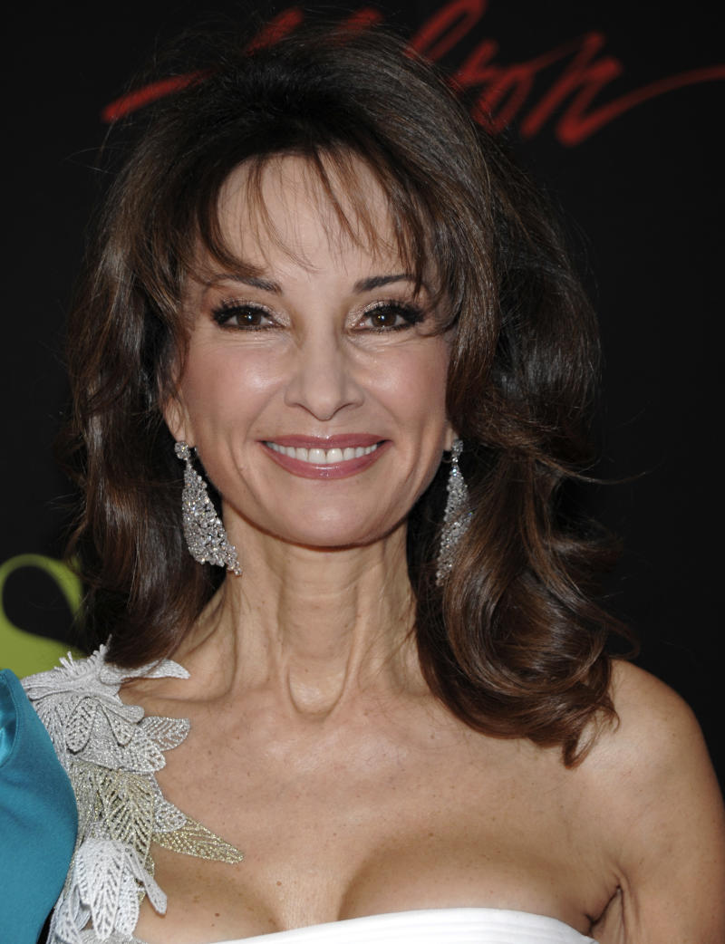 "FILE -- In a June 19, 2011 file photo actress Susan Lucci arrives at the 38th Annual Daytime Emmy Awards in Las Vegas. Lucci has portrayed Erica Kane on ""All My Children,"" which airs its last episode on ABC on Sept. 23, 2011, and it's unclear whether she will be a part of an attempt to migrate the series online.  (AP Photo/Dan Steinberg/file)"