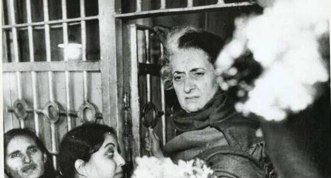 Indira Gandhi released from jail on 26th December 1978