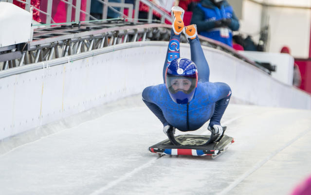 Lizzy Yarnold has defended Team GB's race suits ahead of the start of Olympic skeleton competitions (Andy J Ryan/Team GB)