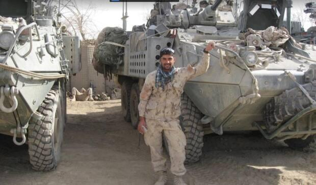 Abdul Hakim Azizi is seen during one of the missions when he helped the Canadian Forces. (Submitted by Abdul Hakim Azizi - image credit)