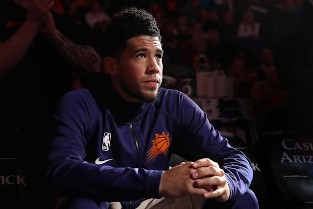Suns star Devin Booker will have to wait for his first All-Star selection. (Christian Petersen/Getty Images)