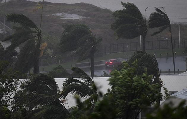Strong winds and rain lash Airlie Beach. Photo: AAP