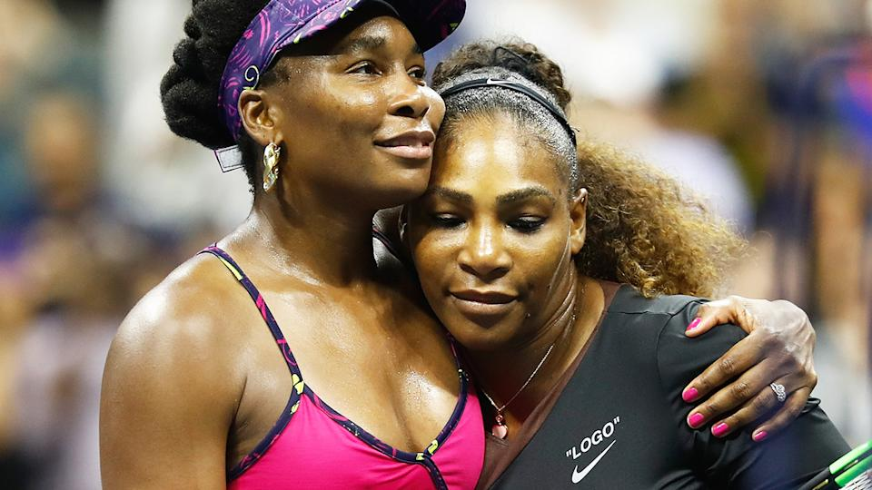 Serena and Venus Williams, pictured here after their match at the 2018 US Open.