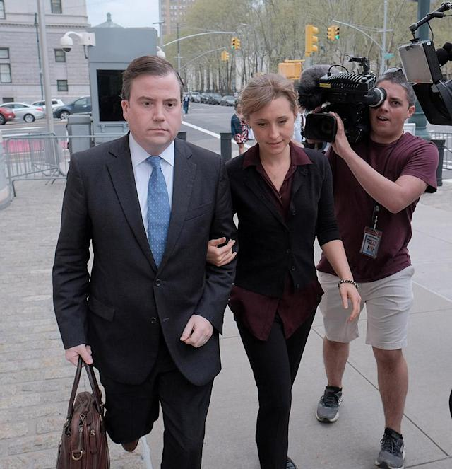 Allison Mack arrives at Brooklyn federal court on May 4, 2018. (Photo: Jemal Countess/Getty Images)