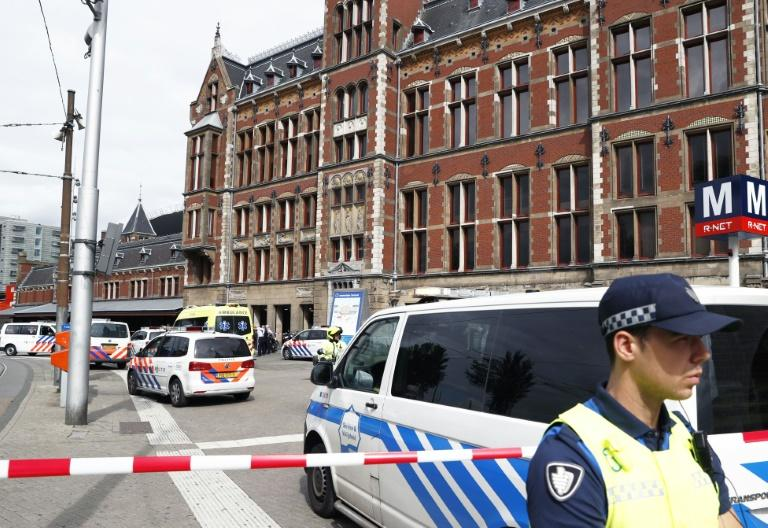 A security cordon was set up around Amsterdam's Central Station after the incident