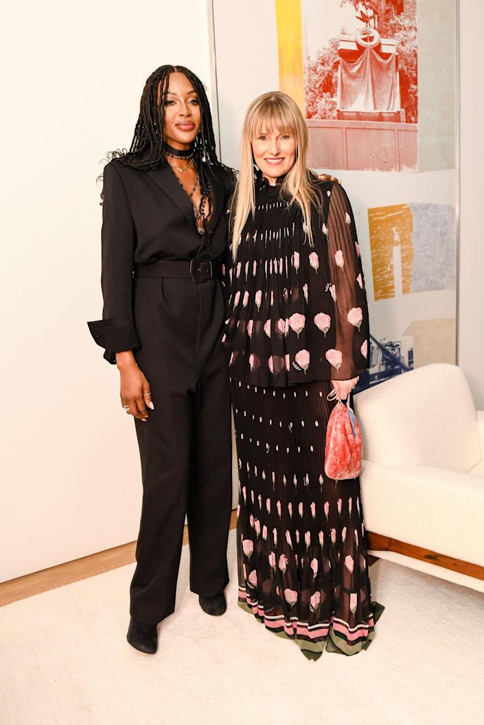 With Naomi Campbell in NYC.