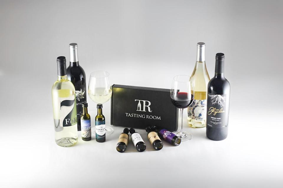 "<h3><strong>Tasting Room</strong> </h3><br><strong>What You Get</strong><br>Personalized tasting kit shipments that are sourced by the company directly from renowned international wineries across the globe.<br><br><strong>What You Commit To</strong><br>A flexible set-your-own schedule — you can specify shipment dates and bottle amounts and can cancel at any time.<br><br><strong>What You Pay</strong><br>An upfront membership cost of $9.95 plus a bi-monthly plan that costs roughly $84.49 for 12 bottles ($7 per bottle) delivered every six weeks (unless otherwise modified). Shipping costs included.<br><br><em>Visit <a href=""https://www.tastingroom.com/"" rel=""nofollow noopener"" target=""_blank"" data-ylk=""slk:Tasting Room"" class=""link rapid-noclick-resp""><strong>Tasting Room</strong></a></em>"