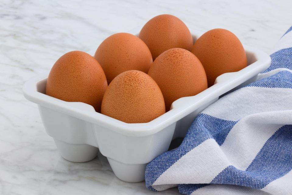 "<p>You may want to skip the egg-white-only omelet and go for the whole egg if you're trying to get in your daily dose of vitamin D. The yolk is a nutrition powerhouse, containing this important nutrient, along with other key vitamins and minerals for immune support, <a href=""https://www.ncbi.nlm.nih.gov/pmc/articles/PMC3277928/"" class=""link rapid-noclick-resp"" rel=""nofollow noopener"" target=""_blank"" data-ylk=""slk:like selenium"">like selenium</a>. Eggs are one of the only foods that <a href=""http://naldc.nal.usda.gov/download/55931/PDF"" class=""link rapid-noclick-resp"" rel=""nofollow noopener"" target=""_blank"" data-ylk=""slk:naturally has vitamin D"">naturally has vitamin D</a>. Whether you eat them hard-boiled, scrambled, or fried, don't skip that yolk!</p>"