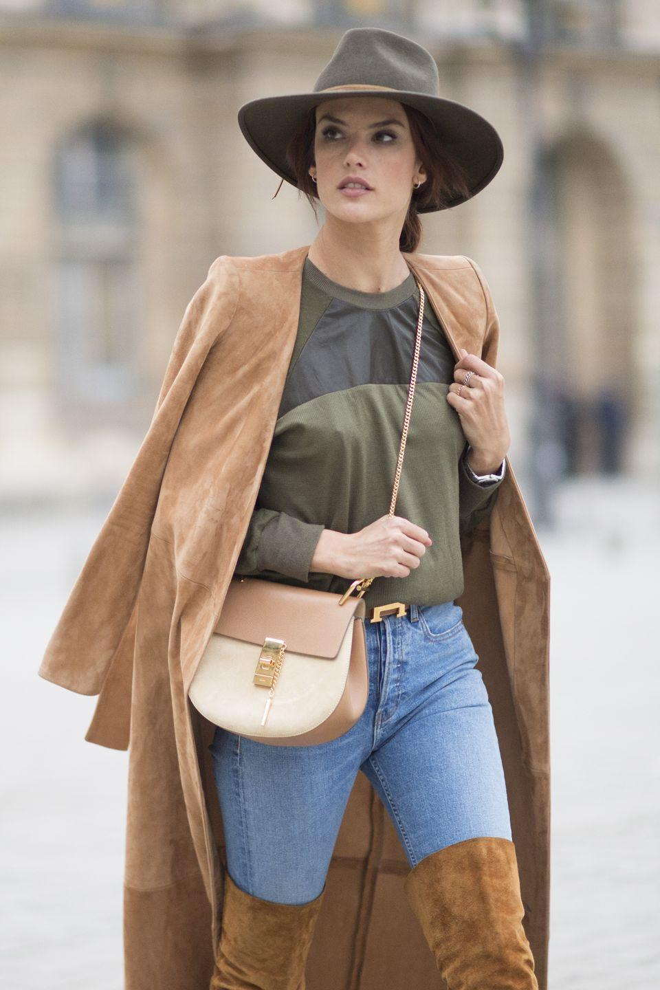 <p>In 2016, this Chloé cross-body blew up and was spotted on every street-style star and even Victoria's Secret Angels like Alessandra Ambrosio. From its gold accents to its curved shape, the bag was an instant hit following its runway debut. </p>