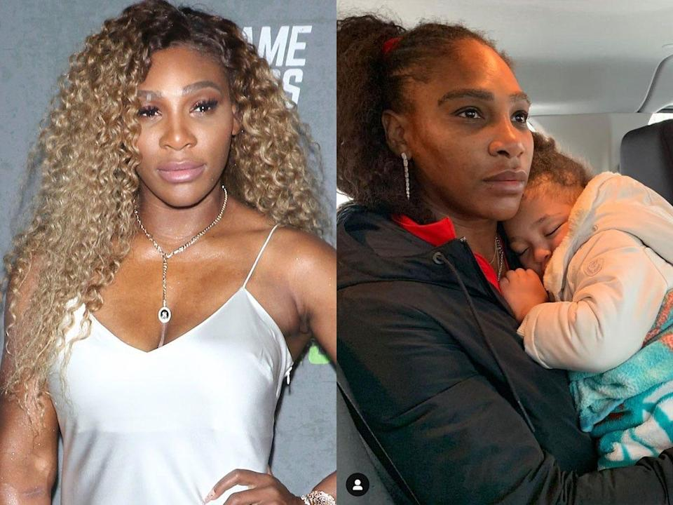 Serena Williams with makeup and without.