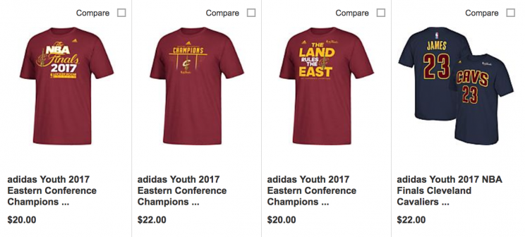 premium selection fcf2a 23b44 Cavaliers-branded 'Eastern Conference champions' gear went ...