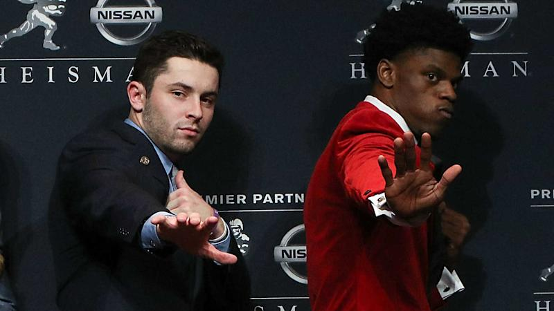 NFL Draft: Baker Mayfield knows Lamar Jackson 'is a great QB,' not a WR