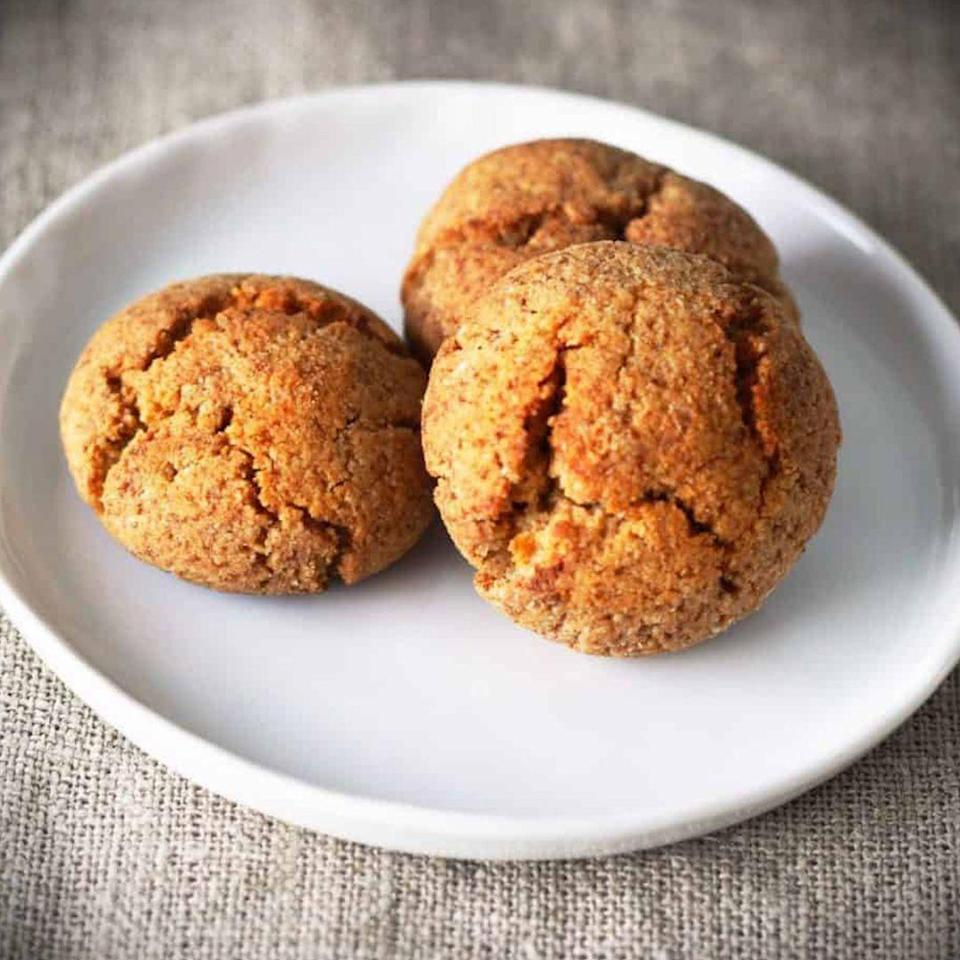 """<p>These babies are perfect for tea time (or anytime, TBH).</p><p><a class=""""link rapid-noclick-resp"""" href=""""https://twosleevers.com/gluten-free-low-carb-keto-spice-cookies/"""" rel=""""nofollow noopener"""" target=""""_blank"""" data-ylk=""""slk:Get the recipe"""">Get the recipe</a></p><p><em>Per serving: 122 calories, 10 g fat (2 g saturated), 5 g carbs, 2 g sugar, 1 g fiber, 3 g protein.</em></p>"""