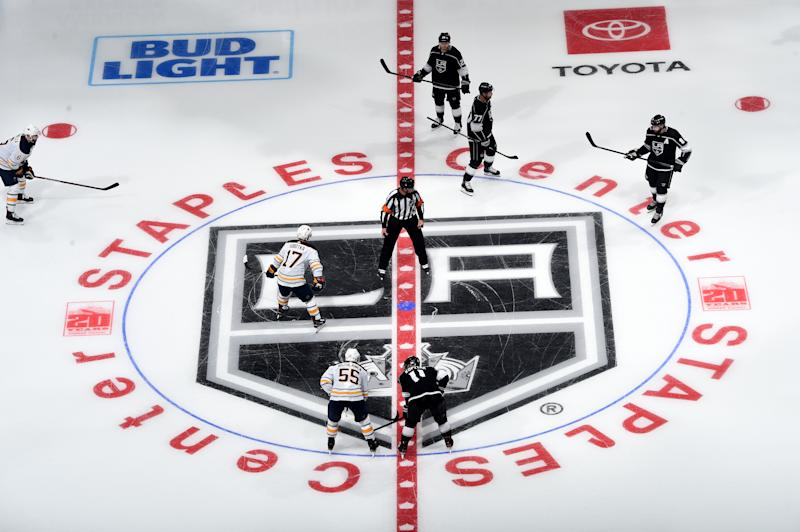 LOS ANGELES, CA - October 17: A general view of the Los Angeles Kings game during the third period against the Buffalo Sabres at STAPLES Center on October 17, 2019 in Los Angeles, California. (Photo by Juan Ocampo/NHLI via Getty Images)