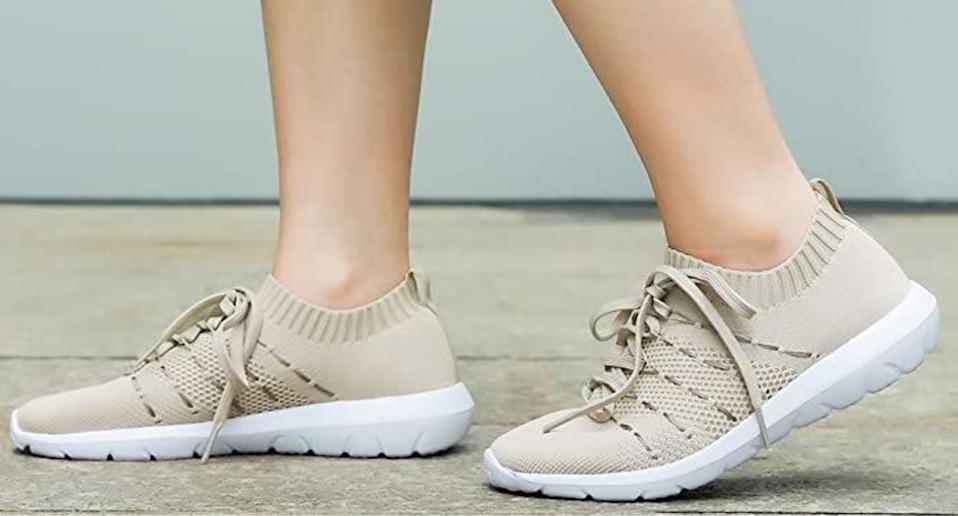 PromArder Women's Walking Shoes are on sale today for 20% off. Image via Amazon.