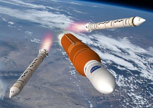 """<span class=""""caption"""">Nasa's Space Launch System.</span> <span class=""""attribution""""><span class=""""source"""">Nasa</span></span>"""