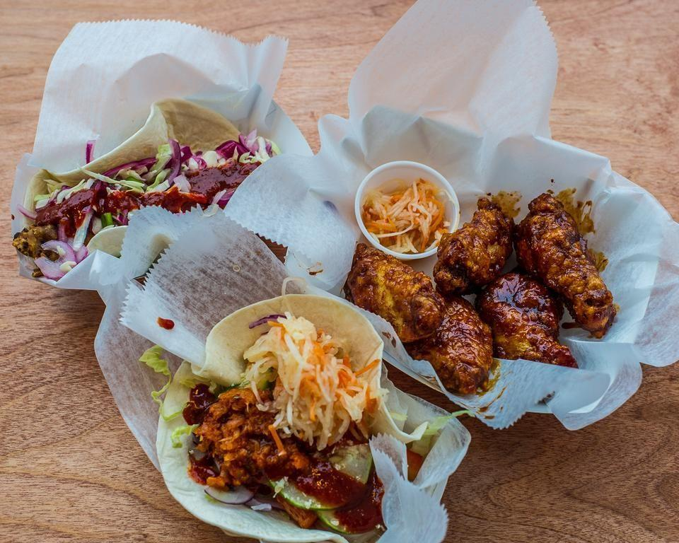 """<p><a href=""""https://www.tripadvisor.com/Restaurant_Review-g29748-d3339869-Reviews-Mogo_Korean_Tacos-Asbury_Park_New_Jersey.html"""" rel=""""nofollow noopener"""" target=""""_blank"""" data-ylk=""""slk:MOGO Korean Fusion Tacos"""" class=""""link rapid-noclick-resp"""">MOGO Korean Fusion Tacos</a>, Asbury Park</p><p>Big portions of tasty food! The tacos are great, but the Korean fried chicken is amazing. - Foursquare user <a href=""""https://foursquare.com/igilmore27"""" rel=""""nofollow noopener"""" target=""""_blank"""" data-ylk=""""slk:Illisa Gilmore"""" class=""""link rapid-noclick-resp"""">Illisa Gilmore</a><br></p>"""