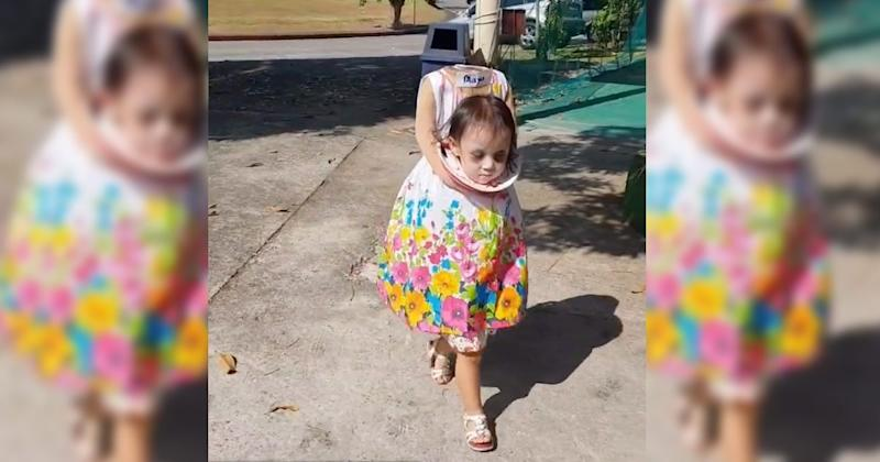 this little girl s headless halloween costume will haunt your dreams