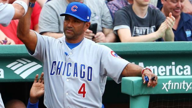"<a class=""link rapid-noclick-resp"" href=""/mlb/teams/chc/"" data-ylk=""slk:Chicago Cubs"">Chicago Cubs</a> bench coach Dave Martinez is reportedly set to be named the <a class=""link rapid-noclick-resp"" href=""/mlb/teams/was/"" data-ylk=""slk:Washington Nationals"">Washington Nationals</a> new manager. (AP)"