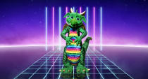 <em>The Masked Singer</em>'s Dragon looks far from a fire-breathing monster. (ITV)