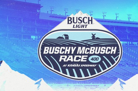 The logo for Sunday's NASCAR Cup Series race at Kansas Speedway.