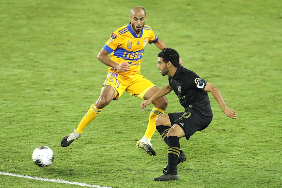 Carlos Vela (right) and LAFC didn't become the first MLS team in 20 years to win the continental Champions League. So what? (Photo by Alex Menendez/Getty Images)