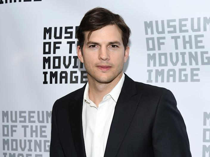 Ashton Kutcher at the Museum of the Moving Image.