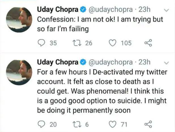 "He broke his extended silence with a couple of cryptic tweets in early 2019, and deleted them almost immediately. With the suicidal tendency and depression expressed through his tweets, the actor had everyone worried for his health and well-being. He later came out stating, <em>""Seems like I tweeted something recently that got a few of you worried. I'm totally fine, its just my dark humour that sometimes gets misunderstood. Thanks for all your concern though.""</em>"