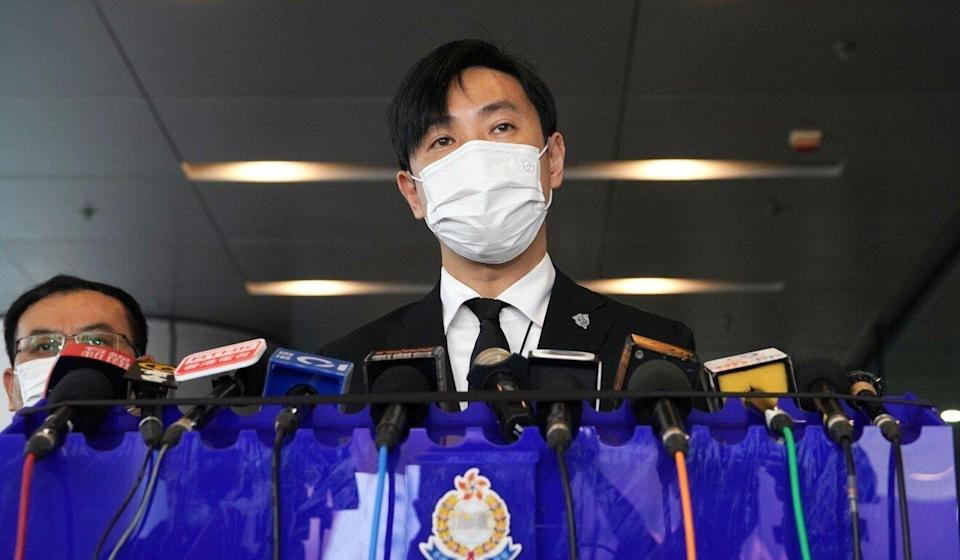 Senior Superintendent Tony Ho offered new details about the death of Senior Inspector Lam Yuen-yee at a press conference on Monday. Photo: Felix Wong