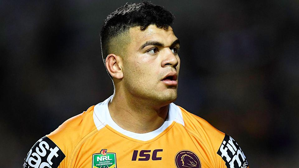 Pictured here, young Broncos forward David Fifita has signed a deal with the Titans.