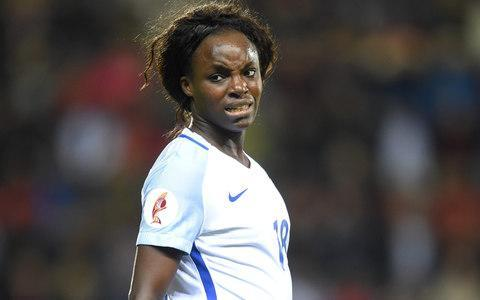 "Chelsea striker Eni Aluko has once again been left out of the England squad for the World Cup qualifiers against Bosnia and Kazakhstan. Aluko admitted in an interview last week that she did not think a recall was likely in the aftermath of her dispute with the Football Association over allegations of bullying and harassment, even though interim manager Mo Marley said she would be considered for selection if she was in form. She has scored five goals in seven appearances for Chelsea so far this season, but has only started two games. In the interview with the BBC, Aluko accused her former England teammates of not showing her enough support after a third FA investigation found former manager Mark Sampson, who dropped her from the squad more than a year ago, had used racist language towards her and her Chelsea teammate Drew Spence. Her omission comes after her teammate Lucy Bronze told Telegraph Sport that she would only be welcomed back into the squad if she was willing to commit to a team environment, although the Lyon player added that she did not see any reason why she would not be considered for selection. Marley has given first senior calls ups to Manchester City's Keira Walsh and Arsenal's Leah Williamson, who played for her in the Under-19 team. Mark Sampson dropped Eni Aluko from the England squad more than a year ago Credit: GETTY IMAGES Manchester City goalkeeper Karen Bardsley returns from injury but Reading midfielder Jade Moore misses out following ankle surgery. ""These matches are hugely important to the World Cup qualifying campaign and we will be looking to get two good results, and finish 2017 in strong fashion. ""I know Keira and Leah well from the WU19 set up and they are both talented young players with lots of potential and playing well for their clubs, and I am pleased to welcome them into the senior squad. ""We are looking forward to ending the year with two home games. We are expecting good crowds at both matches and will be going out to put on two excellent performances for our supporters."" The Lionesses will face Bosnia at Walsall's Banks's Stadium on Friday, November 24 before travelling to Colchester where they will play Kazakhstan Tuesday, November 28. Here it is! The #Lionesses squad for the #FIFAWWC qualifying double-header against Bosnia and Kazakhstanpic.twitter.com/9moyaTneYk— Lionesses (@Lionesses) November 14, 2017"