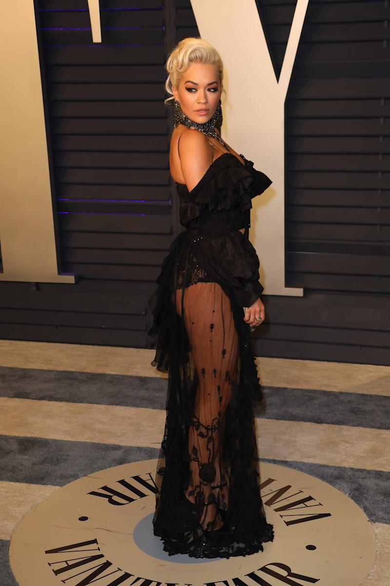 BEVERLY HILLS, CALIFORNIA - FEBRUARY 24: Rita Ora attends the 2019 Vanity Fair Oscar Party hosted by Radhika Jones at Wallis Annenberg Center for the Performing Arts on February 24, 2019 in Beverly Hills, California. (Photo by Tony Barson/FilmMagic)