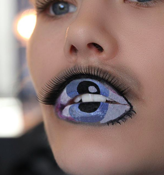 """<p>Two words: utterly terrifying. Although the <a href=""""https://uk.style.yahoo.com/eyeball-lip-art-trend-will-mesmerised-124015265.html"""" data-ylk=""""slk:eyeball lip art;outcm:mb_qualified_link;_E:mb_qualified_link;ct:story;"""" class=""""link rapid-noclick-resp yahoo-link"""">eyeball lip art</a> trend may work come Halloween, we've not got any time for it in the New Year. <em>[Photo: Instagram] </em> </p>"""