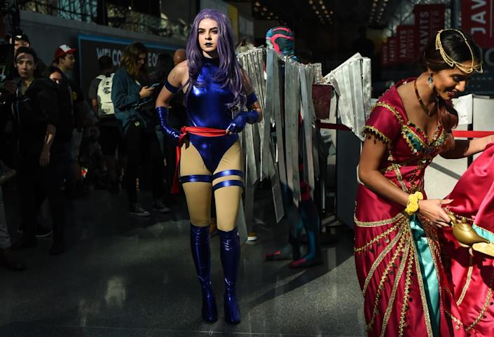 """<div class=""""inline-image__caption""""><p>A cosplayer poses as an X-men during New York Comic Con 2019 on October 05, 2019 in New York City. </p></div> <div class=""""inline-image__credit"""">DANIEL ZUCHNIK/Getty</div>"""
