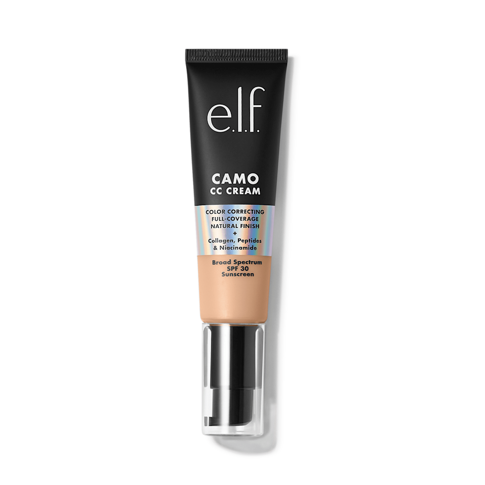 <p>The <span>e.l.f. Camo CC Cream</span> ($14) comes in 20 shades, so you'll find your perfect match. It's got medium to full coverage depending on how much you want to build on, and it gives a natural finish, which we love.</p>