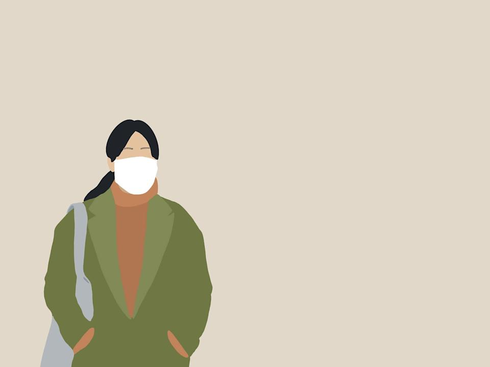 Wearing a covering is different to a medical mask that should be reserved for frontline workers: iStock