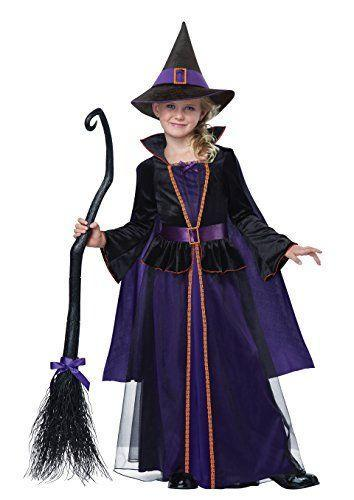 """<p><strong>California Costumes</strong></p><p>walmart.com</p><p><strong>$29.96</strong></p><p><a href=""""https://go.redirectingat.com?id=74968X1596630&url=https%3A%2F%2Fwww.walmart.com%2Fip%2F171472542&sref=https%3A%2F%2Fwww.countryliving.com%2Fshopping%2Fnews%2Fg4786%2Fhocus-pocus-costume-collection%2F"""" rel=""""nofollow noopener"""" target=""""_blank"""" data-ylk=""""slk:Shop Now"""" class=""""link rapid-noclick-resp"""">Shop Now</a></p><p>This miniature Sanderson-approved costume will go over well with your youngest kids. This set comes with a sophisticated dress, witch's hat, and broom.</p>"""