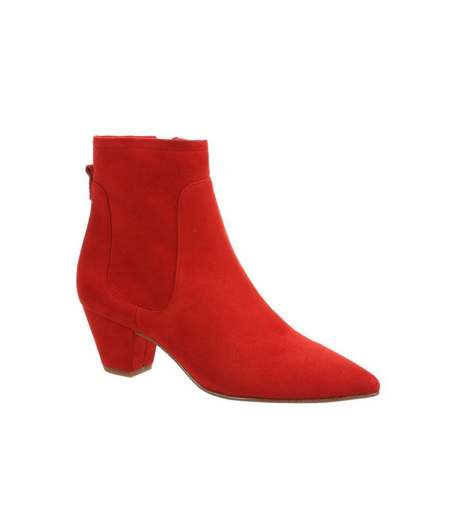 """<p>Chase away the winter blues with these red-hot booties. <br><a href=""""https://fave.co/2P8izo2"""" rel=""""nofollow noopener"""" target=""""_blank"""" data-ylk=""""slk:Shop it:"""" class=""""link rapid-noclick-resp"""">Shop it:</a> Karlee Ankle Bootie, $150, <a href=""""https://fave.co/2P8izo2"""" rel=""""nofollow noopener"""" target=""""_blank"""" data-ylk=""""slk:samedelman.com"""" class=""""link rapid-noclick-resp"""">samedelman.com</a> </p>"""