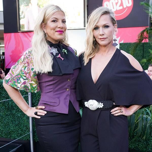 """Tori Spelling and Jennie Garth Give Updates on """"Great"""" Brian Austin Green and Shannen Doherty"""