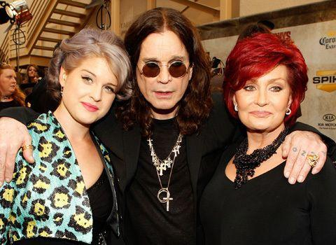 Kelly Osbourne (with parents Ozzy and Sharon) has also had tax problems in recent years. Credit: Getty Images