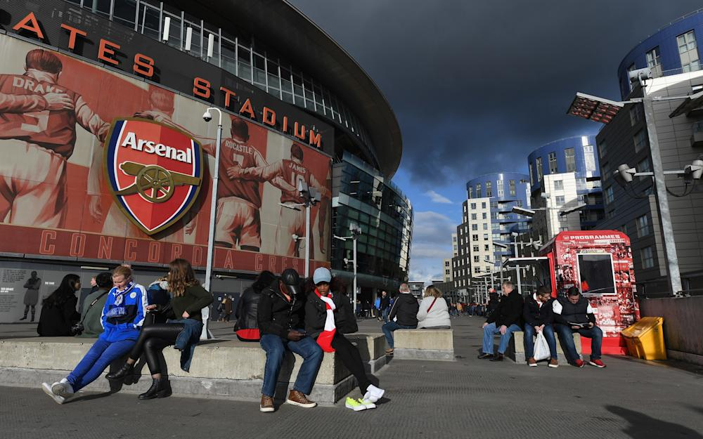 A general view outside the stadium prior to the Premier League match between Arsenal and Leicester City at the Emirates Stadium - Credit: GETTY