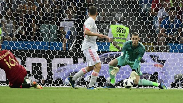 The Spain goalkeeper says he is calm and has the full backing of his team-mates and manager after his error in a draw with Portugal