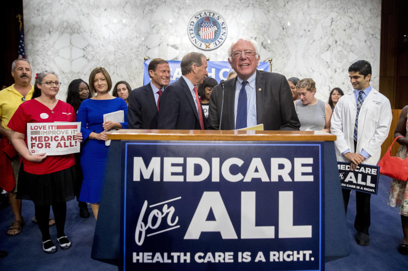 Sanders would make government health care role even bigger
