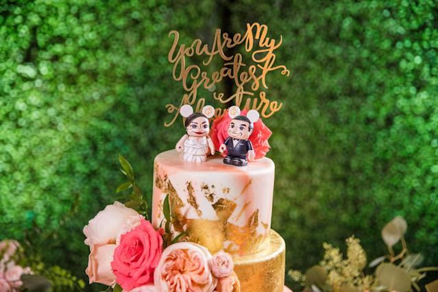 """""""You are my greatest adventure"""" is a reference to the Pixar movie """"Up,"""" which the couple watched on their first date. (White Rabbit Photo Boutique)"""