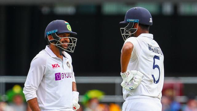 Shardul Thakur and Washington Sundar stood tall to rescue India from 186/6, helping them finish on 336, 33 short of the Australian total. AP